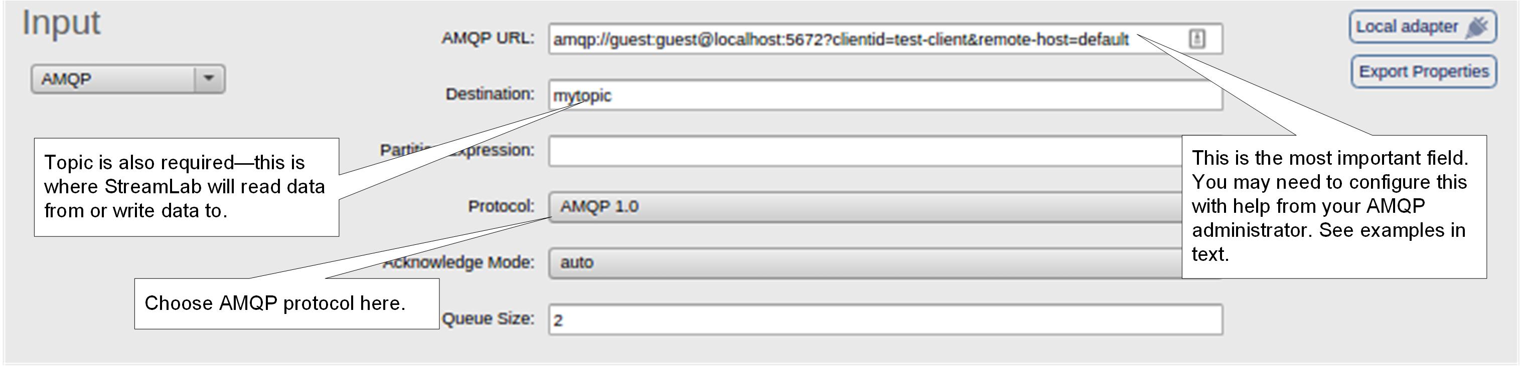 Configuring External Stream Sinks :: SQLstream Documentation